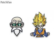 A0488 <b>Patchfan</b> Classic Cartoon <b>Dragon Ball</b> Son Goku's Grandpa ...
