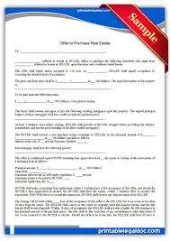 printable offer to purchase real estate legal forms printable offer to purchase real estate legal forms