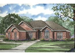 images about House Plans on Pinterest   House plans    Fernleaf Ranch Home All Brick Ranch House With Multiple Gables And An Arched Window from houseplansandmore
