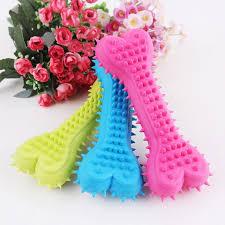 1pcs Blue Yellow Pink TPR <b>Pet Toys Rubber</b> Solid Barbed Bones ...