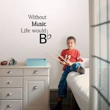 DWPQ3244 - Life Without <b>Music Wall Quote Decals</b> - by WallPops
