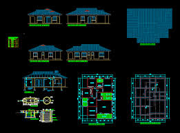House plan three bedroom in AUTOCAD DRAWING   BiblioCADHouse plan three bedroom  dwgAutocad drawing