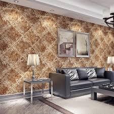 <b>American retro industrial wind</b> diamond non-woven 3D wallpaper ...
