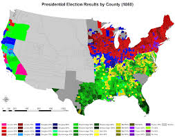 best images about the civil war reconstruction 1860 us presidential election of 1860 by county