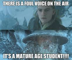 Mature age students in lectures memes | quickmeme via Relatably.com