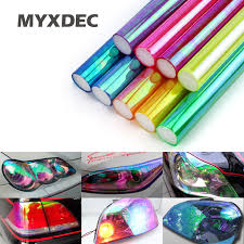 30cm*1m Shiny Chameleon <b>Auto Car Styling</b> Headlights <b>Taillights</b> ...