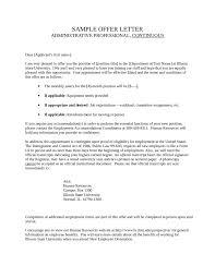 letter sample job offer letters sample offer letter letter sample sample offer administrative professional job offer letters