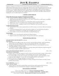 resume samples   types of resume formats  examples and templatesarea director of food services