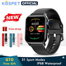 2020 <b>KOSPET GTO Smartwatch</b> Men Fitness Tracker Heart Rate ...