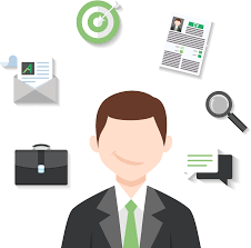 services for job seeker allkl vector drawing of a man thinking about his future illustrating the service promoting your profile