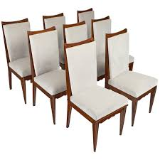 15e114 set eight dining chairs mid century modern art deco outdoor furniture