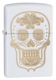 <b>Зажигалка Zippo</b> Sugar skull (28792) белая