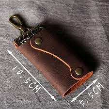 AETOO Personality Crazy Horse Leather <b>key</b> buckle head layer ...