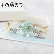 <b>Fashion</b> Glass Dried Flowers Bracelets Promotion-Shop for ...