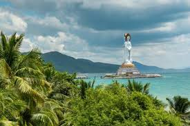 <b>White Guanyin Statue</b> In Nanshan, Hainan, China Stock Photo ...