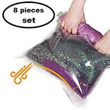 8 Travel Space Saver Bags - No Vacuum or Pump ... - Amazon.com