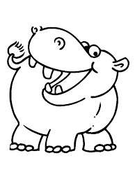 Small Picture Hippopotamus coloring pages Download and print Hippopotamus