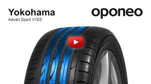 Tyre <b>Yokohama ADVAN</b> Sport <b>V103</b> Summer Tyres Oponeo ...