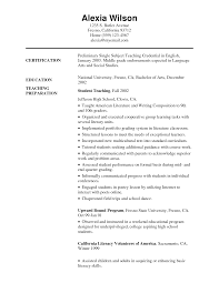 resume in english resume badak high school english teacher resume example