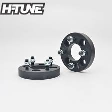 <b>H TUNE 4PCS Forged Aluminum</b> Black 4x100 67.1CB 25mm Wheel ...