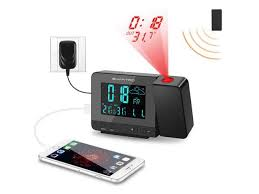 SMARTRO <b>Digital Projection Alarm Clock</b> with Weather Station ...