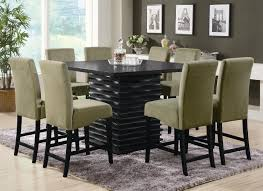 dining room tables chairs square:  brilliant simple black polished wooden dining room table square legs with for black dining room table
