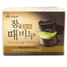 <b>Мыло</b>-<b>скраб</b> Mukunghwa Charcoal Body Soap <b>Древесный</b> уголь ...