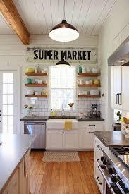 open kitchen design farmhouse: farmhouse kitchen style with open shelves