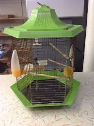 <b>VINTAGE</b> LARGE GREEN <b>PLASTIC</b> AND WIRE <b>BIRD CAGE</b> | eBay