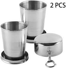 Personalised Engraved Portable <b>Stainless Steel Telescopic</b> Cup ...