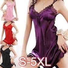 Women Sexy Sleepwear Nightgown Satin Silk Babydoll Lace <b>Robes</b> ...