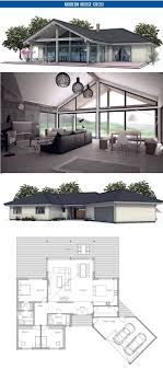 images about Home Plans  Single Story on Pinterest   Small    Small house floor plan   open planning  Vaulted ceiling  three bedrooms  Floor area  sq ft  Plan from ConceptHome com  Is it possible to split the