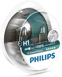 <b>Philips</b> 12258XV+S2 X-treme Vision Halogen Headlamp <b>H1</b> 12258 ...