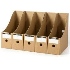 5PCS/Set <b>Stationery Storage Box Kraft</b> Paper Magazine Document ...