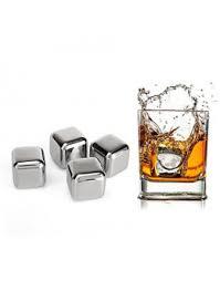 <b>Охлаждающие стальные кубики</b> для напитков 4 шт
