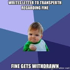 Writes letter to Transperth regarding fine Fine gets withdrawn ... via Relatably.com