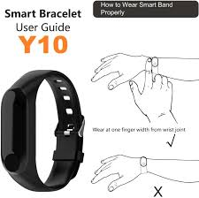 <b>Y10 Smart bracelet</b> Manual in English