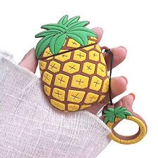 Airpods Pineapple Silicone Case with Keychain,Cute ... - Amazon.com