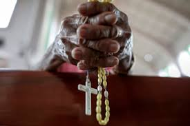 Image result for nigerian bishop and rosary
