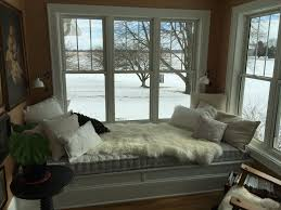 tufted upholstered fabric bench hallway bedroom window