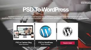 PSD to WordPress theme conversion services - Yarddiant