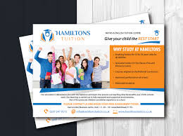 flyer design by uk for leaflet for tuition centre targeting people check out this bold professional flyer design for hamiltons tuition design designer 7103104