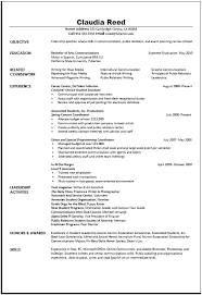 resume examples  examples of good resumes basic resume examples    communication resume examples for objective   related coursework and experience