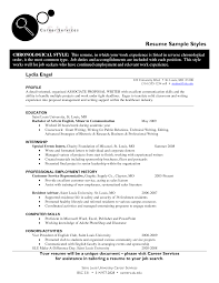 resume style samples  sample resume styles  functional style    resume style samples