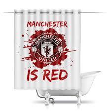 "Шторы в ванную ""<b>Манчестер Юнайтед</b>"" #2567839 от geekbox ..."