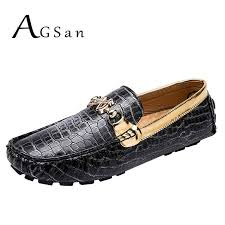 AGSan Men Luxury Brand Loafers Gold Driving Shoes <b>Large Size</b> ...