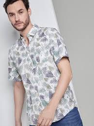 <b>Short</b>-<b>sleeved</b> shirt with a tropical <b>print</b> - from TOM TAILOR