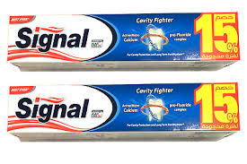 2 PACKS x 120ml. Signal Anti-Caries Toothpaste <b>4.0</b>oz each for ...