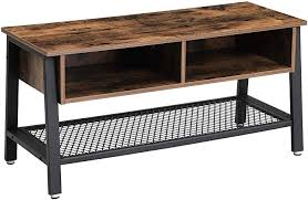 VASAGLE TV Stand, Industrial TV Cabinet with <b>Mesh Storage</b> Shelf ...