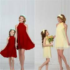 LILIGIRL 2019 New Matching <b>Family</b> Clothing Shoulder Mini <b>Chiffon</b> ...